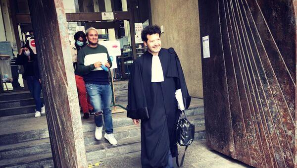 Taha Bouhafs et son avocat, Me Arié Alimi - Sputnik France