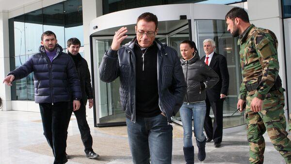 Jean-Claude Van Damme lors de sa visite à Grozny - Sputnik France