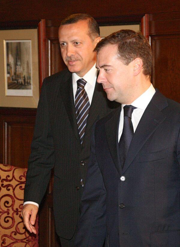 Rencontre Medvedev-Erdogan: coopération énergétique au menu (Kremlin) - Sputnik France