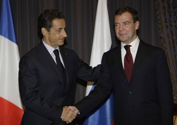 MM. Medvedev et Sarkozy - Sputnik France