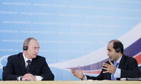 Le premier ministre Vladimir Poutine lors d'une conférence en ligne avec des cercles d'affaires indiens à New Delhi - Sputnik France