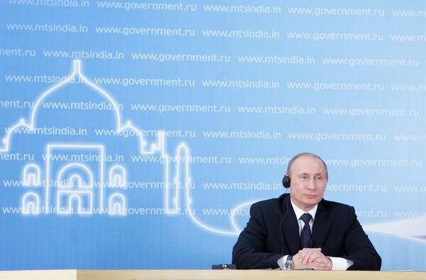 Le premier ministre Vladimir Poutine en visite de travail à New Delhi - Sputnik France