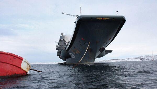 L'unique porte-avions russe, baptisé Admiral Kouznetsov - Sputnik France