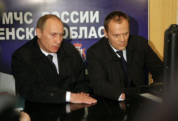 Crash de Smolensk: Poutine et Tusk ont discuté du déroulement de l'enquête - Sputnik France