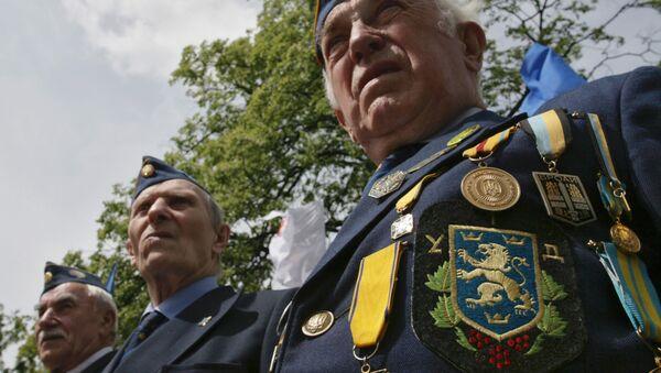 Veteran members of the Ukrainian Insurgent Army mark Heroes Day in western Ukrainian city of Lviv - Sputnik France