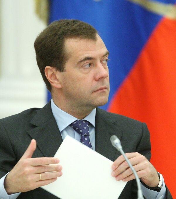 Le président Dmitri Medvedev  - Sputnik France
