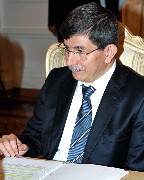 Le chef de la diplomatie turque Ahmet Davutoglu - Sputnik France