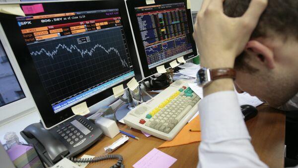 Baisse de la valeur des actifs boursiers, image d'illustration - Sputnik France