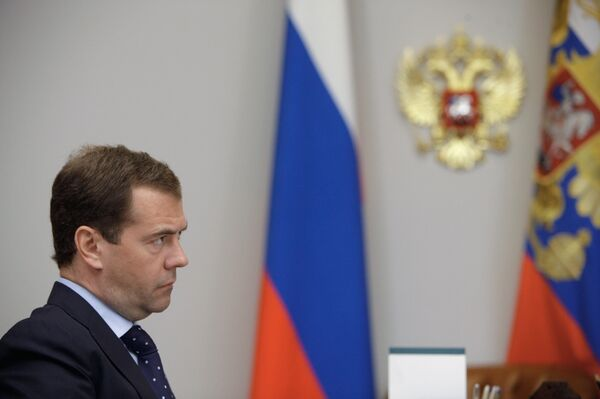Le président russe Dmitri Medvedev - Sputnik France
