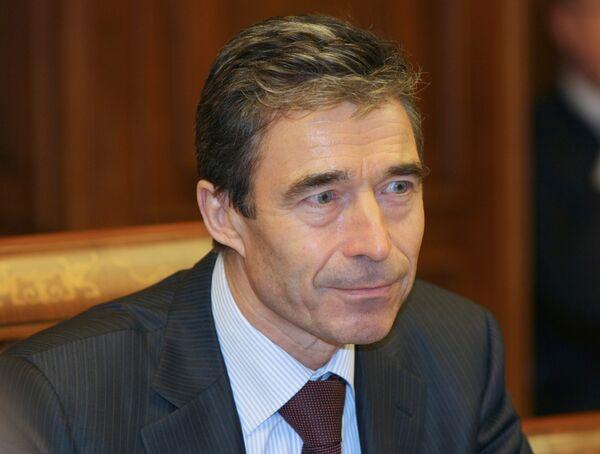Le secrétaire générale de l'OTAN Anders Fogh Rasmussen - Sputnik France
