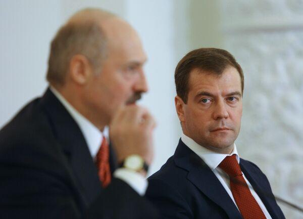 Alexandre Loukachenko et Dmitri Medvedev  - Sputnik France
