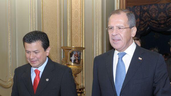 Hugo Martinez et Sergueï Lavrov - Sputnik France
