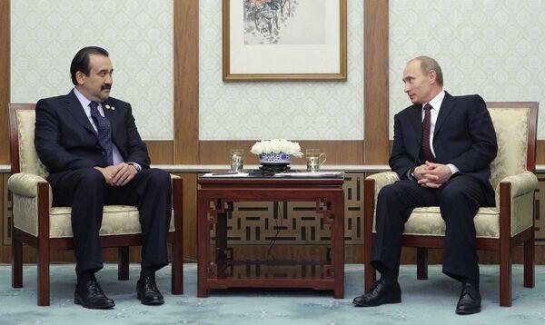 Les premiers ministres russe et kazakh, Vladimir Poutine et Karim Massimov - Sputnik France