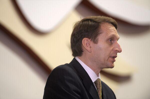 Le chef de l'administration présidentielle russe Sergueï Narychkine - Sputnik France
