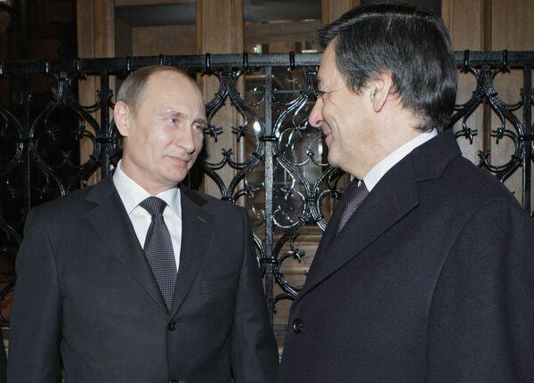 Vladimir Poutine et François Fillon - Sputnik France