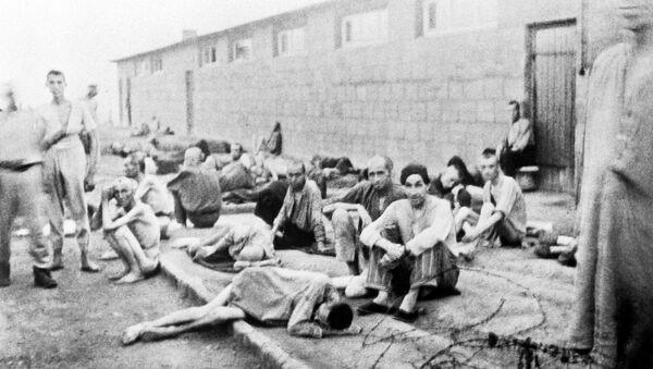Узники немецкого лагеря смерти Маутхаузен в дни войны. - Sputnik France