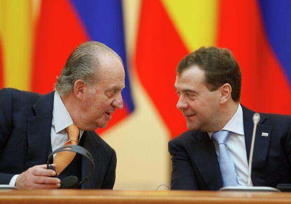 Le président russe Dmitri Medvedev et le roi d'Espagne Juan Carlos - Sputnik France