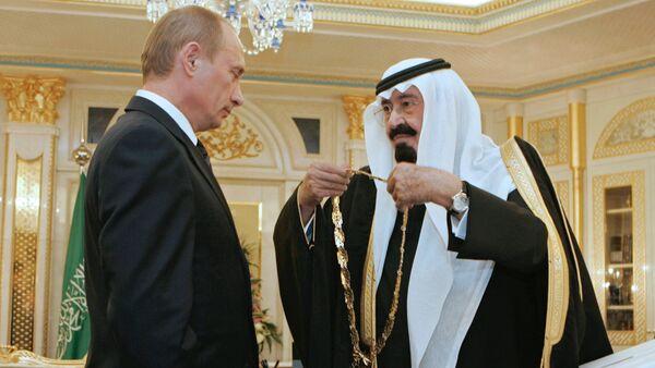Le président russe Vladimir Poutine et le roi Salman d'Arabie saoudite - Sputnik France