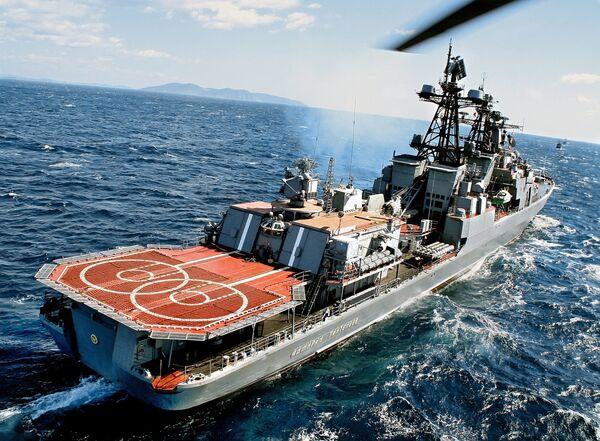 Le grand navire de lutte anti-sous-marine Admiral Panteleïev - Sputnik France