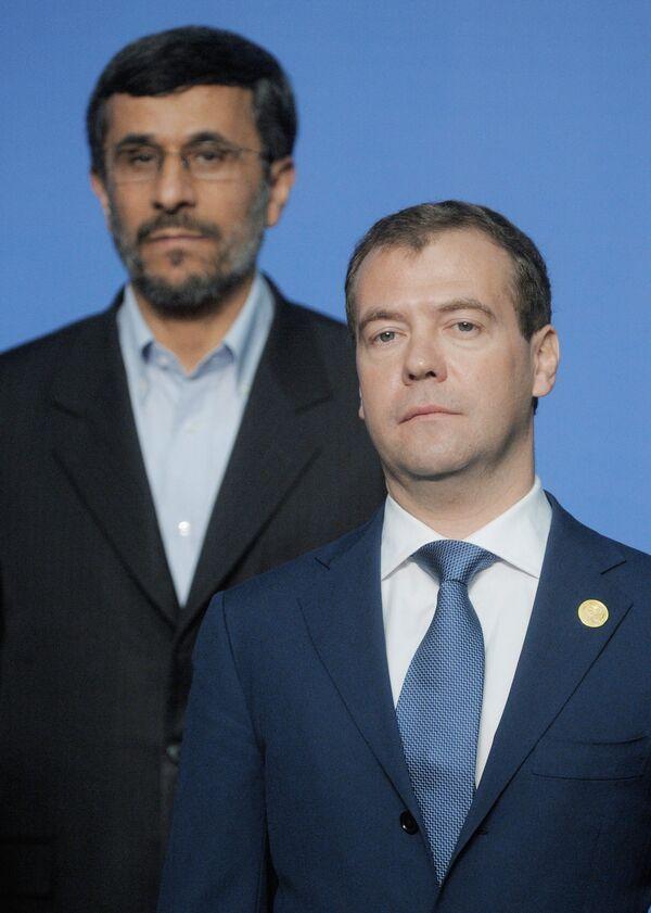 Mahmoud Ahmadinejad et Dmitri Medvedev à Astana - Sputnik France