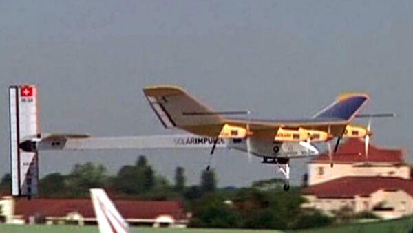 L'avion solaire Solar Impulse survole le Bourget - Sputnik France