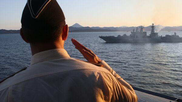 Varyag cruiser at a Pacific Fleet exercise - Sputnik France