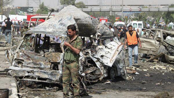 Последствия теракта в Дамаске - Sputnik France