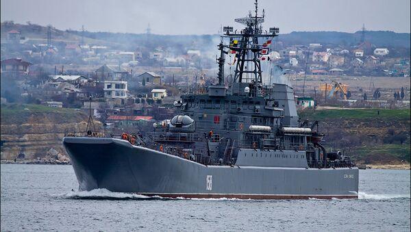 Le grand navire de débarquement Tsezar Kounikov - Sputnik France
