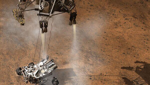 Atterrissage du rover américain Curiosity sur Mars - Sputnik France