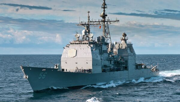 Un croiseur US. Image d'illustration - Sputnik France