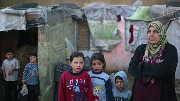 Réfugiés syriens dans la plaine de la Bekaa au Liban - Sputnik France