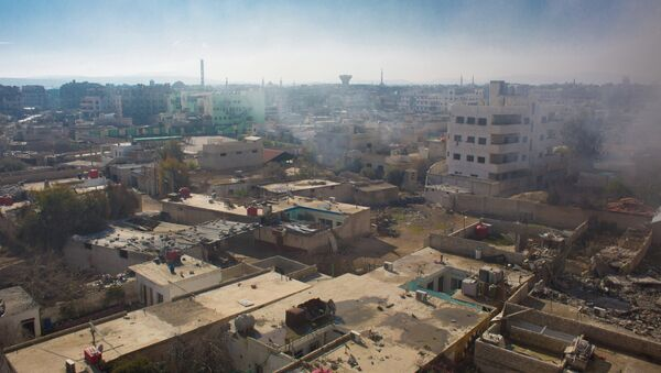 Вид на территорию, занятую боевиками Свободной армии Сирии, в городе Дарайя - Sputnik France
