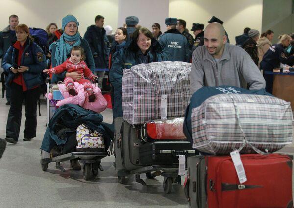 Citoyens russes évacués de Syrie (archive) - Sputnik France