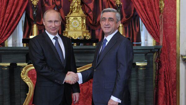 Президент России Владимир Путин и президент Армении Серж Саргсян - Sputnik France