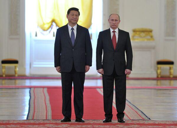 Xi Jinping et Vladimir Poutine - Sputnik France
