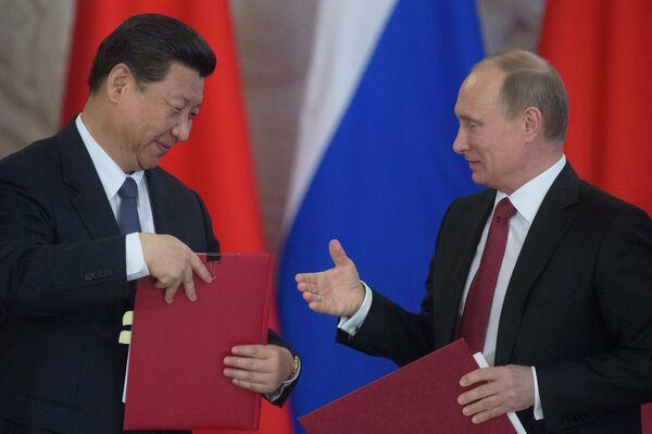 Le président chinois Xi Jinping et le président russe Vladimir Poutine - Sputnik France