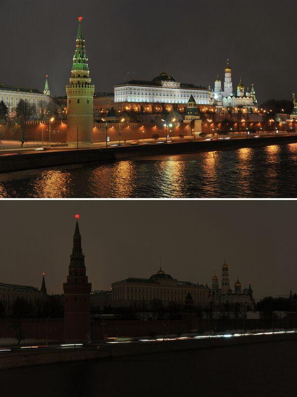 Heure pour la Terre 2013 à Moscou - Sputnik France