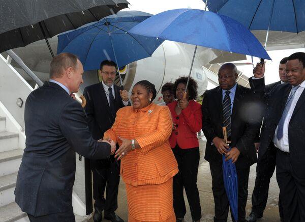 Le président russe Vladimir Poutine est arrivé pour une visite de travail en Afrique du Sud - Sputnik France