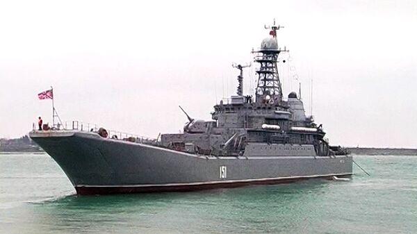 Le grand navire de débarquement Azov - Sputnik France