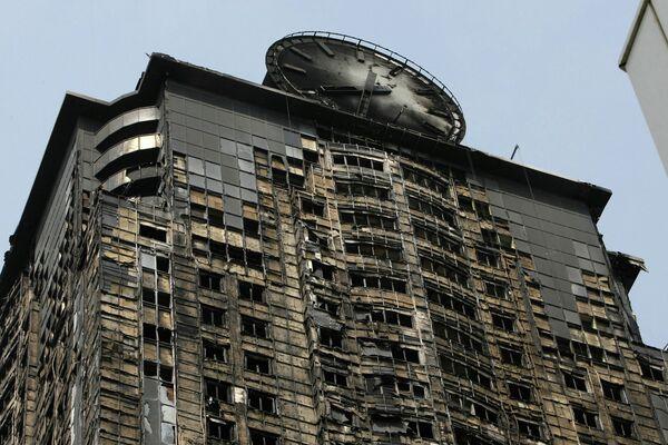 Le plus haut édifice de Grozny après un incendie - Sputnik France