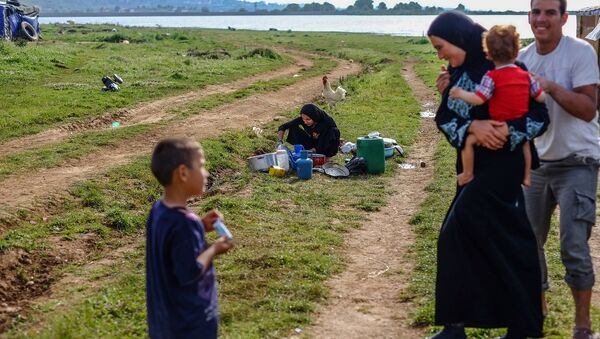 Des réfugiés syriens - Sputnik France