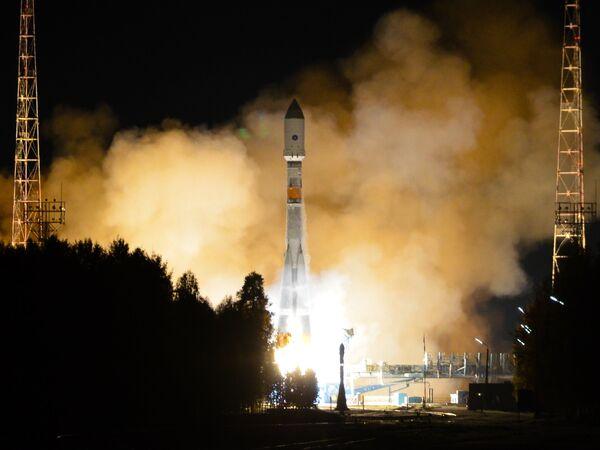 Fusée de lancement Soyouz-2.1b avec à son bord un satellite du système de navigation russe GLONASS (archives) - Sputnik France