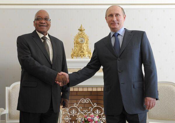 Jacob Zuma et Vladimir Poutine (Archives) - Sputnik France