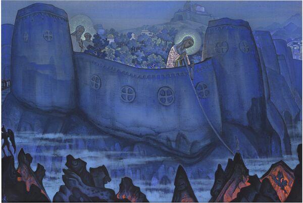 Le tableau de Nicolas Roerich La Peine de la Vierge Marie - Sputnik France