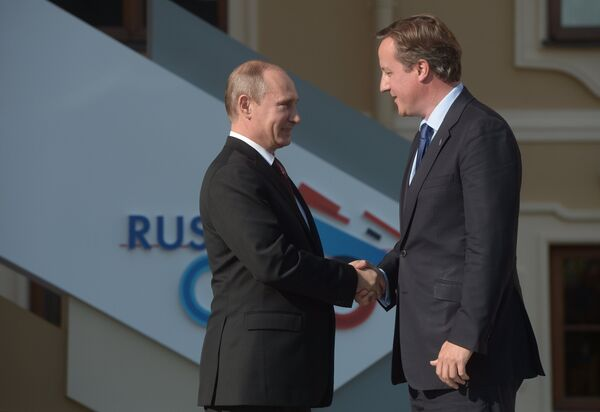 G20: Poutine et Cameron évoquent la Syrie - Sputnik France