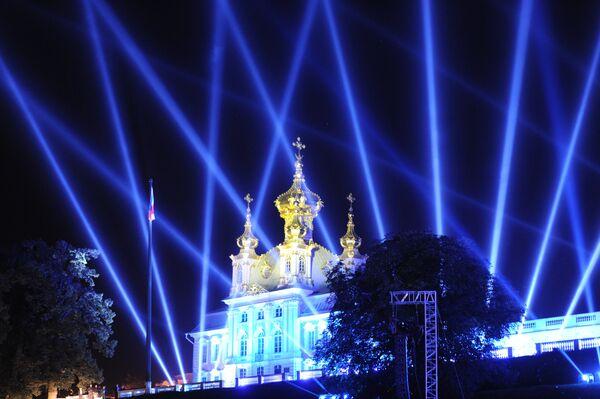 Peterhof: un show aquatique impressionnant pour les leaders du G20 - Sputnik France