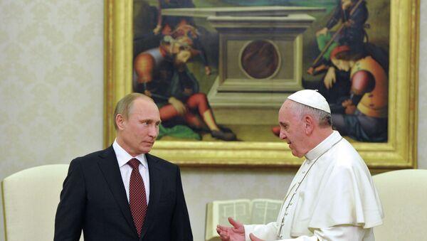 Vladimir Poutine au Vatican - Sputnik France