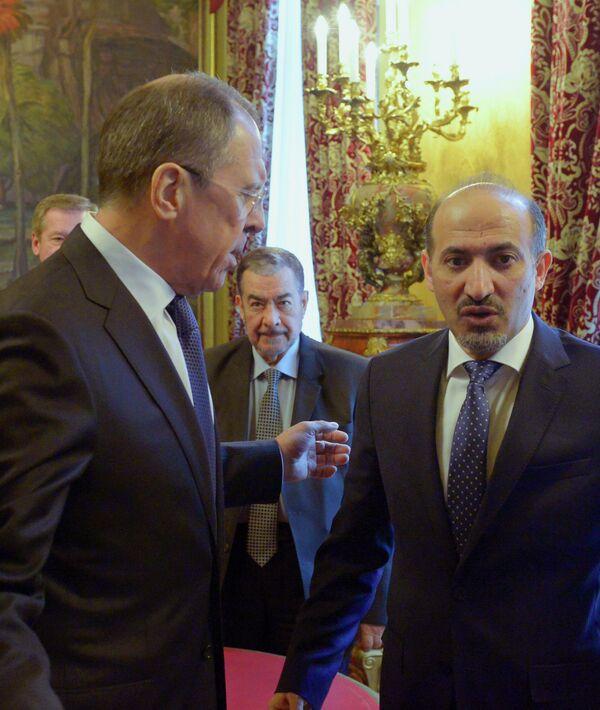 Sergueï Lavrov avec Ahmad Jarba - Sputnik France