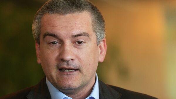 Премьер-министр Автономной Республики Крым Сергей Аксенов - Sputnik France
