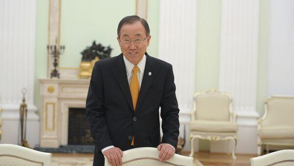 Генеральный секретарь ООН Пан Ги Мун - Sputnik France